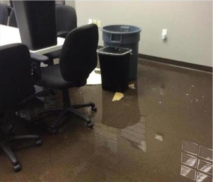 Storm Damaged Office Space Before