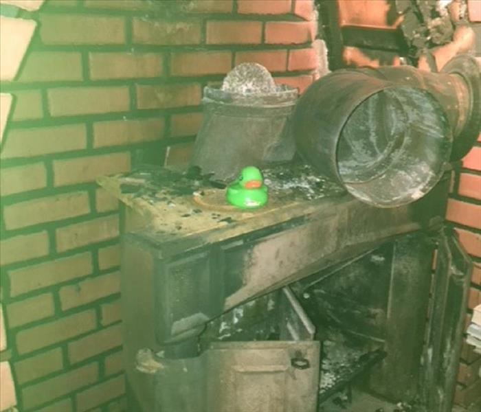 SERVPRO rubber duck on fire affected contents