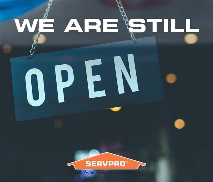 We are still open graphic.