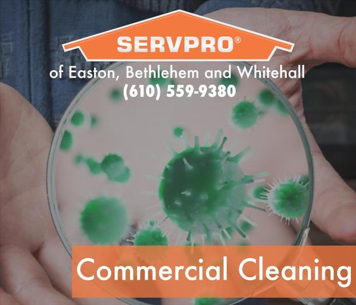 Commercial cleaning flyer with phone number on.