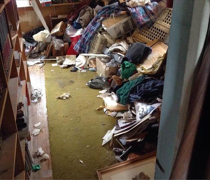 Room in a hoarding house.