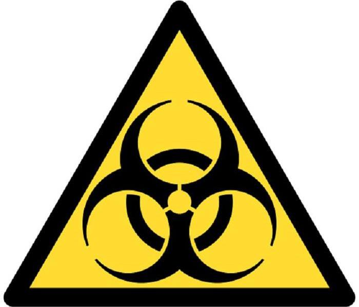 Yellow, triangle Biohazard symbol