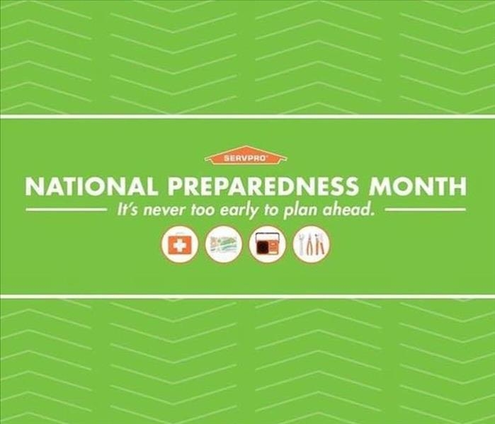 National Preparedness Month words on green background