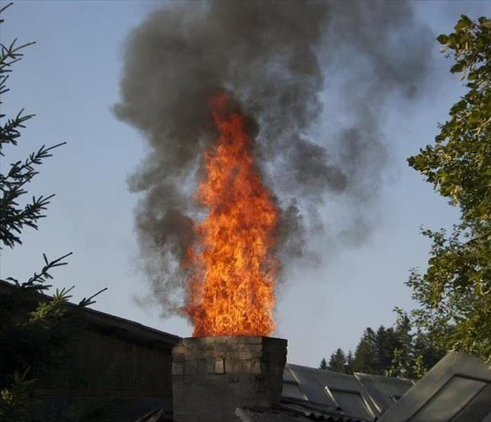 Roof Top Chimney Fire
