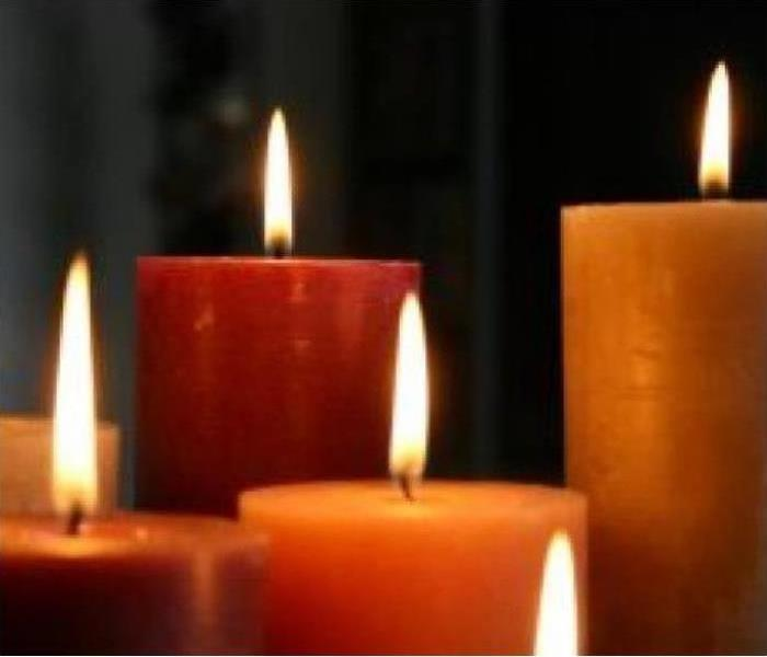 5 lighted candles