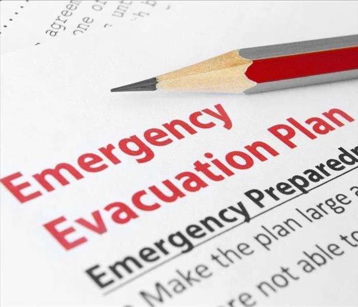 Emergency Evacuation Plan in Red lettering